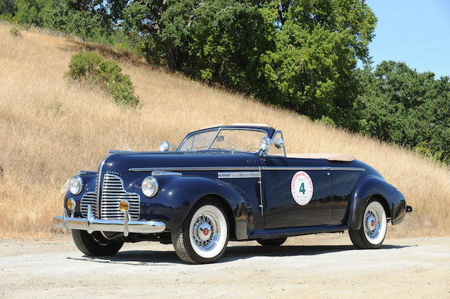 Formerly the property of Martin Swig, 2007 Peking-to-Paris finisher, two-time California Mille entrant,1940 Buick Roadmaster Convertible Coupe  Chassis no. 13676588