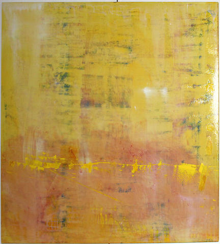 Dianne Neuman (American, 20th/21st Century) Untitled (Pink and yellow), 2003 48 x 48in