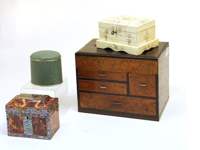 A group of four various boxes 20th century
