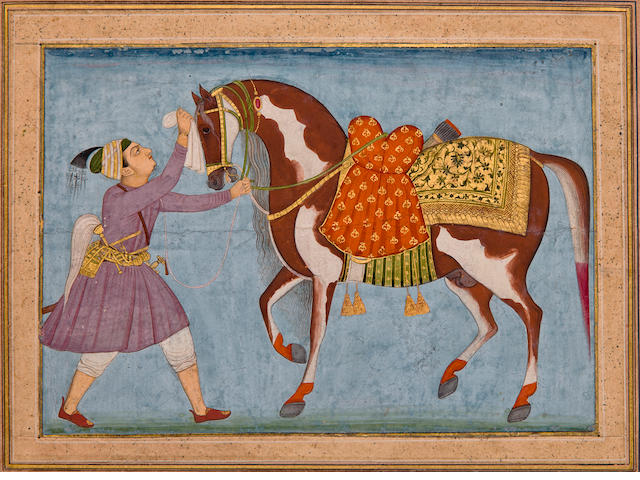 Portrait of a Horse and Groom, Mughal, 18th century