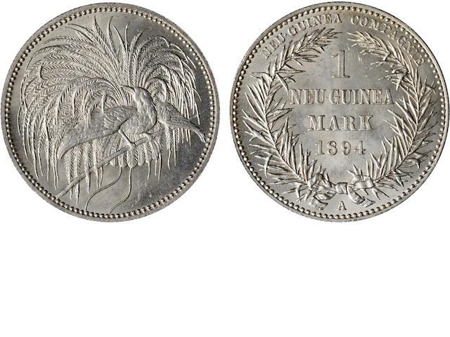 German New Guinea, German Protectorate 1 Mark 1894-A