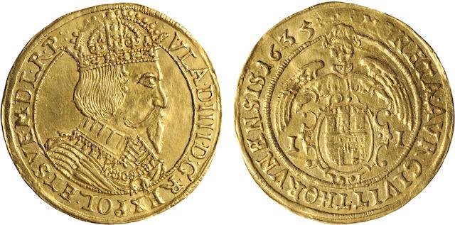 Poland, Thorn, Wladislaw IV, Ducat, 1635  Fr. 58/KM#22.1, 3.35g