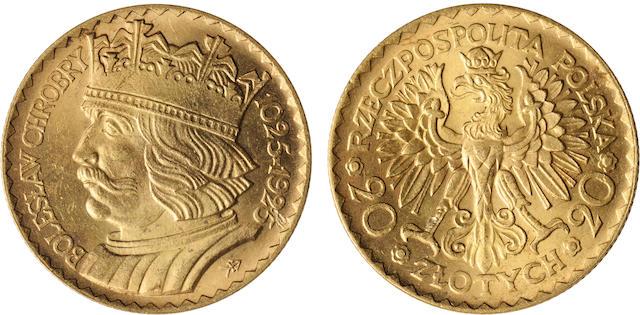 Poland, Boleslaw I, 20 Zlotych, 1925 Y#33, 6.44g