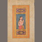 Portrait of a Noor Jahan Opaque watercolor on paper, North India, late 18th century
