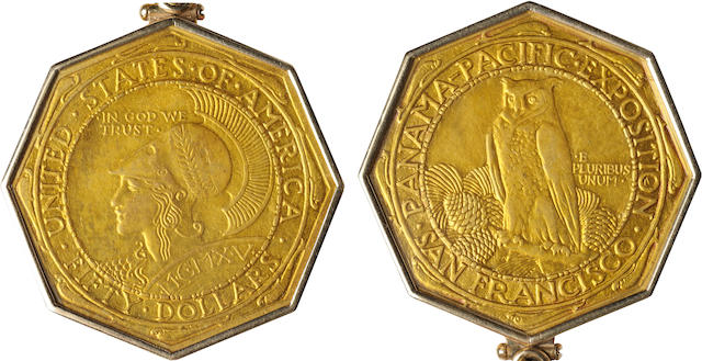 1915-S Panama Pacific $50 Octagonal
