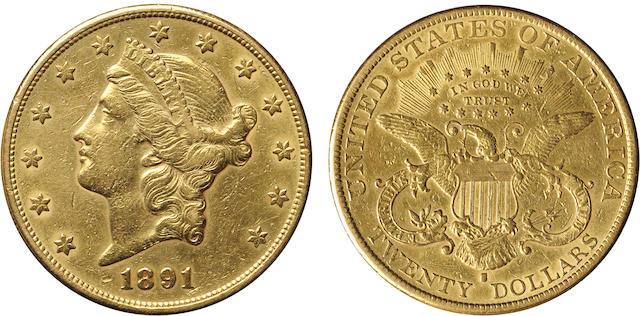 1891-S $20