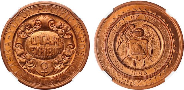 1909 WA HK-359 SC$1 Utah Dollar MS66RD Alaska-Yukon-Pacific Expo NGC