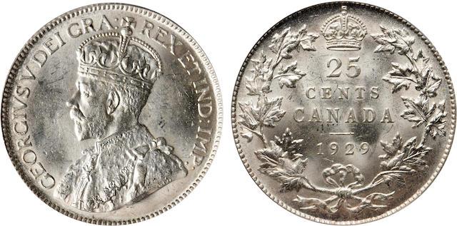 1929 25C Canada MS64 PCGS