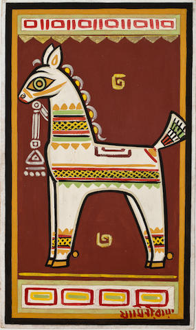 Jamini Roy (1887-1972) Horse, early 1960s