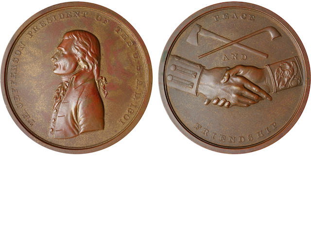 1801 Jefferson Peace Medal in bronze