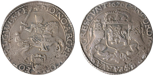 Netherlands, West Friesland, Silver Ducaton, 1670