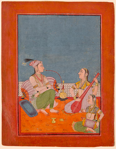 An illustration to a ragamala series: Karnati ragini Opaque watercolor on paper, Bilaspur, Circa 1730-50