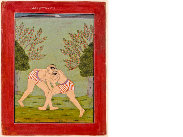 Illustration to a ragamala series: Deskha ragini Opaque watercolor on paper Bilaspur Circa 1750