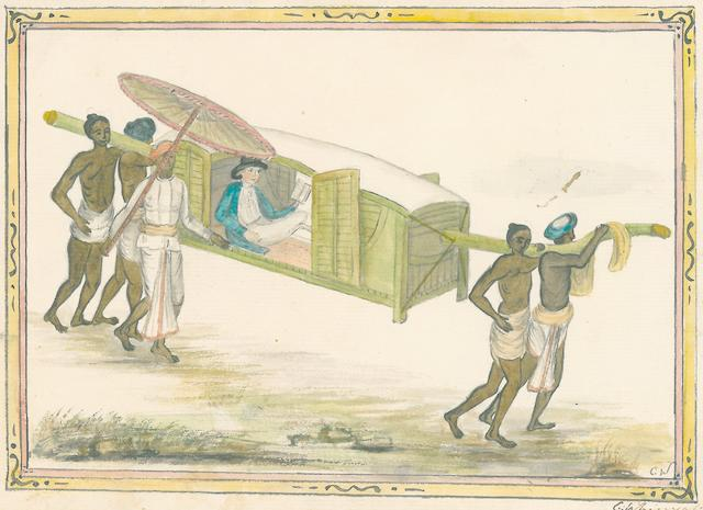 ALBUM—WATERCOLORS. Album assembled by Catherine Whinyates of Allahabad, c.1802,