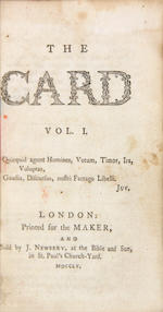 The Card. 1755. Volume 1 only. BB