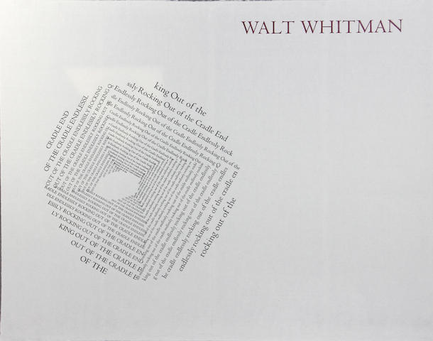WHITMAN, WALT. 1819-1892. Out of the Cradle Endlessly Rocking. Torrance, CA: Labyrinth Editions, 1976-1978.