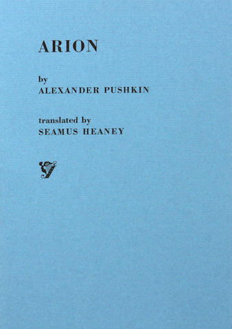 HEANEY, SEAMUS, TRANSLATOR & ALEXANDER PUSHKIN. Arion. 1/400.