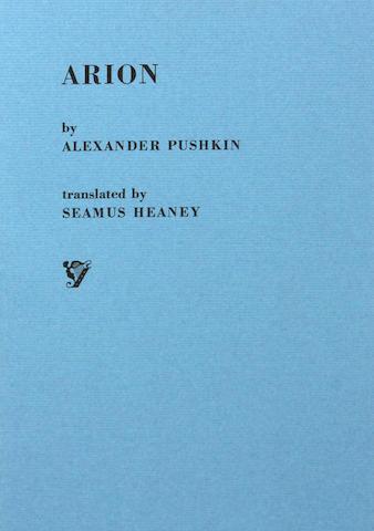 HEANEY, SEAMUS, TRANSLATOR & ALEXANDER PUSHKIN. Arion. 1/400.