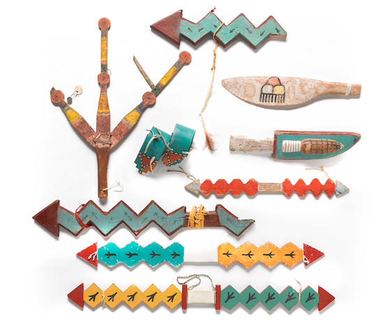 A collection of Pueblo dance regalia