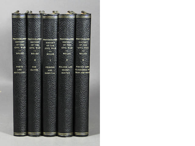 [CIVIL WAR - PHOTOGRAPHY.] Miller. Photographic History of the Civil War. 10 vols.