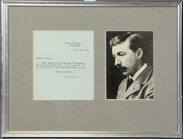 FORSTER, E.M. Letter signed.