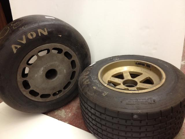 A set of four Formula 3000 wheels,