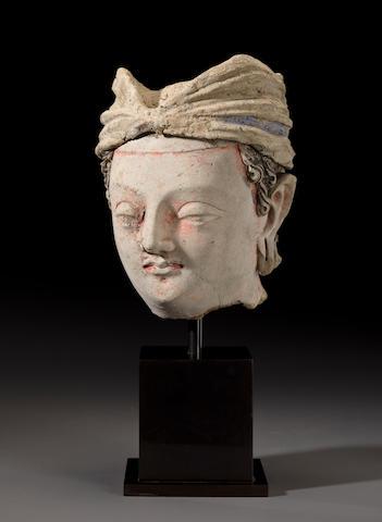 Head of a Bodhisattva, Gandhara, 4th/5th century