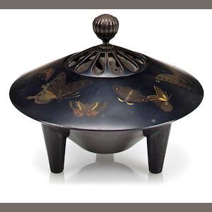 A shakudo incense burner By the Hattori Company, early 20th century