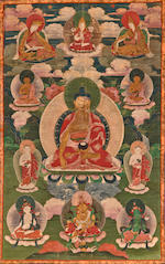 Two thangkas of Buddha Avalokitesvara