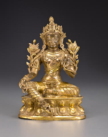 A gilt copper alloy Syamatara Tibeto-Chinese, 19th century