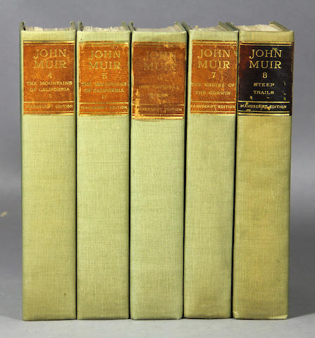 MUIR, JOHN. Works. 10 vols.