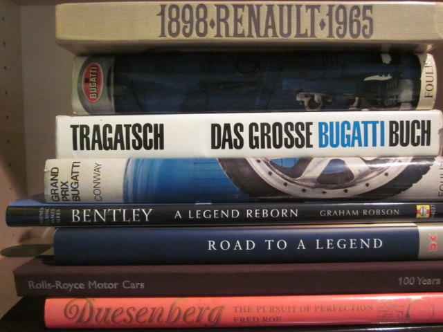 A grouping of 'high-end' auto marque titles,
