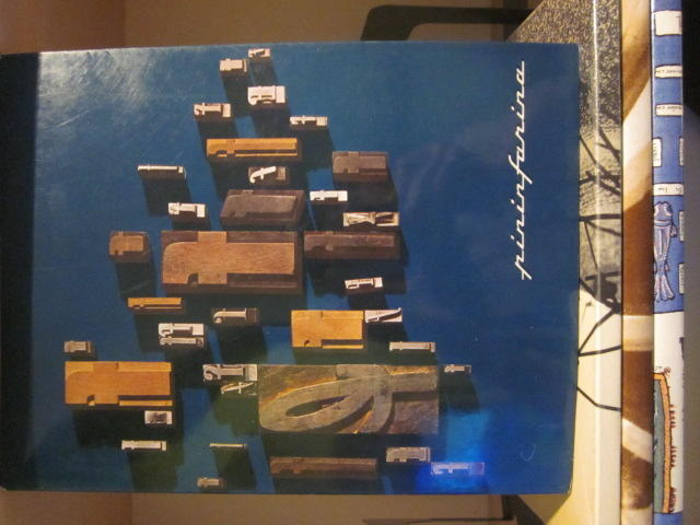 A lot of four Pininfarina yearbooks, c.60s,