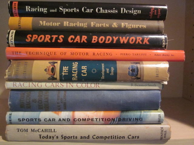 A collection of reference titles on racing development and design,