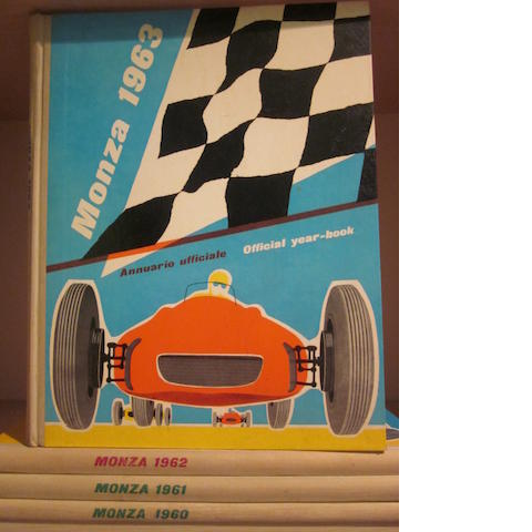 A group of four Monza yearbooks,