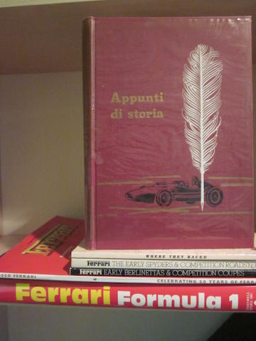 A lot of Ferrari titles including 'Appunti di Storia,'