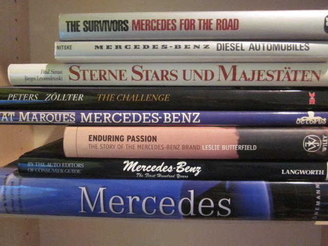 A grouping of Mercedes-Benz titles,