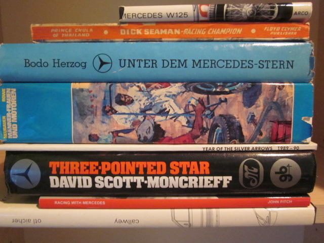 A collection of Mercedes-Benz racing titles,