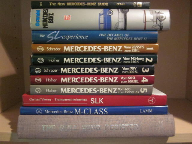 A group of Mercedes-Benz model specific titles,