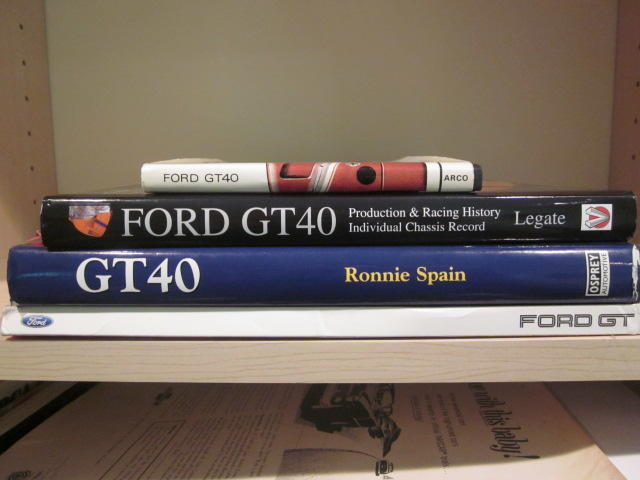 A lot of four Ford GT 40 titles,