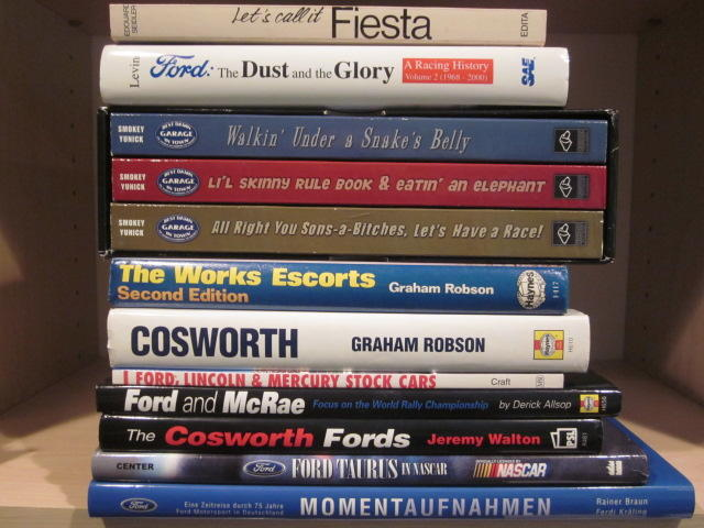 A lot of Ford racing related titles,