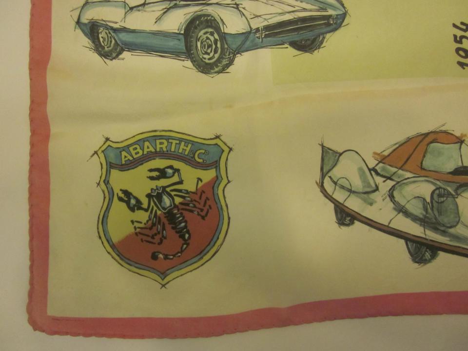 An original 50s era 'Abarth & Co.' scarf,