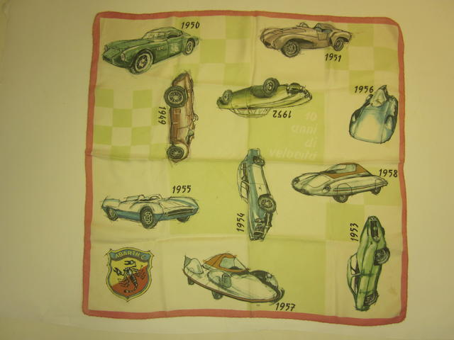 An original 50s era 'Abarth & Co.' scarf,