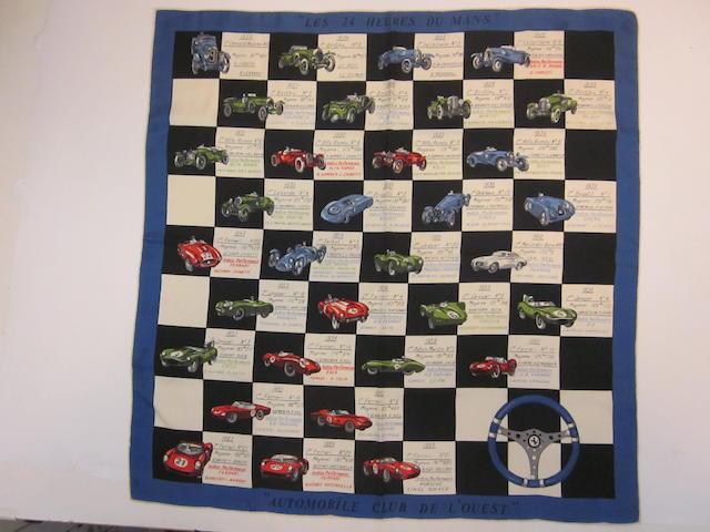 A 1965 '24 Hors Du Mans' scarf,