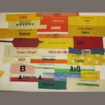 A collection of early 50s/60s era Press, Photographer and Driver armbands,