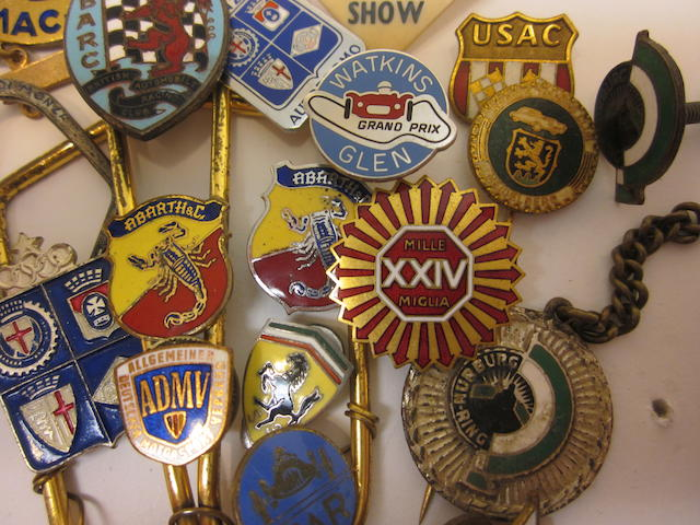 A fine collection of 50s/60s era pin and lapel badges,