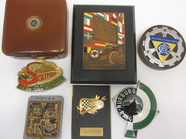A nice grouping of race badges,