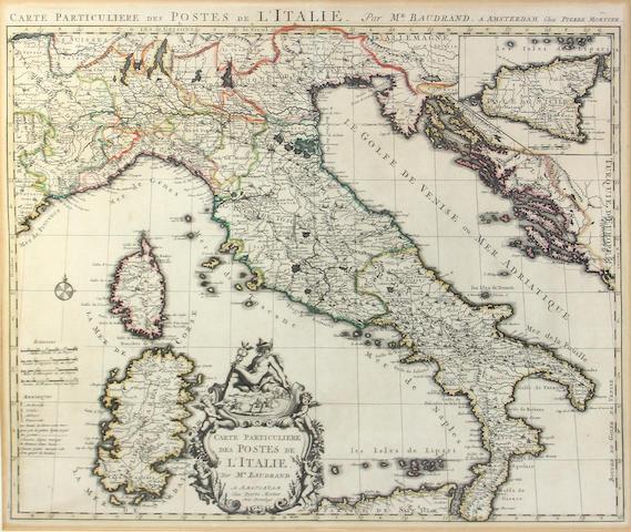 MARTIER, PIERRE (sp.?). Carte Particulaire des Postes de l'Italie.