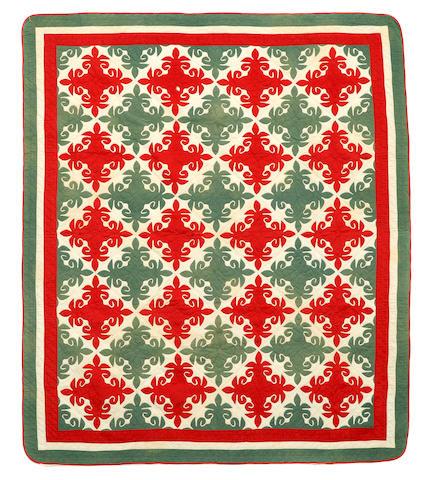 A fleur de lis cotton quilt
