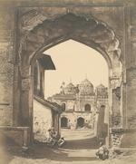 "[BEATO, FELICE, and others.] Album titled in manuscript ""Photographic Views of Delhi & Lucknow ... Collected by W.J.H. in 1858, at Delhi,"" containing 16 images of Delhi and 15 of Lucknow, all by Felice Beato,"